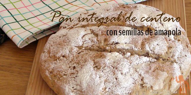Pan integral de centeno con semillas de amapola