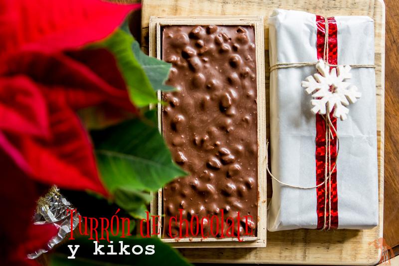 Turrón de chocolate y kikos
