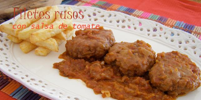 Filetes rusos con salsa de tomate