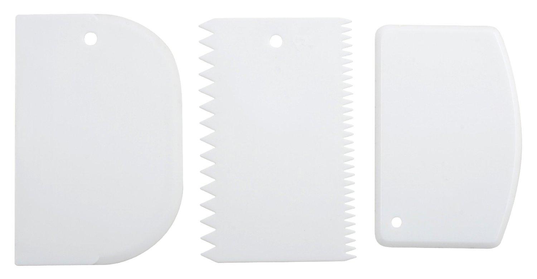 Metaltex 252521 - Juego de 3 paletas de plástico para repostería
