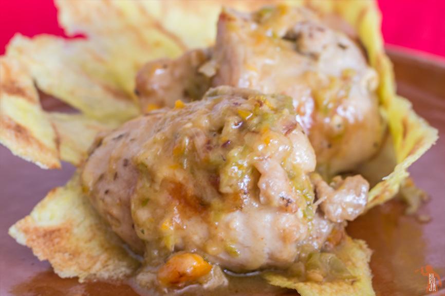 Galeria de contramuslos de pollo rellenos