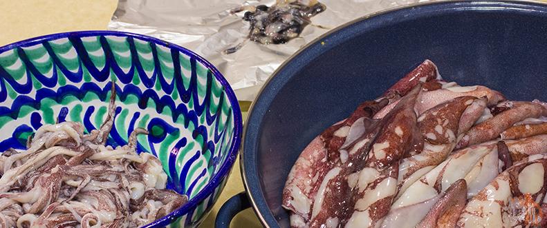 Cómo limpiar chipirones o calamares para rellenar
