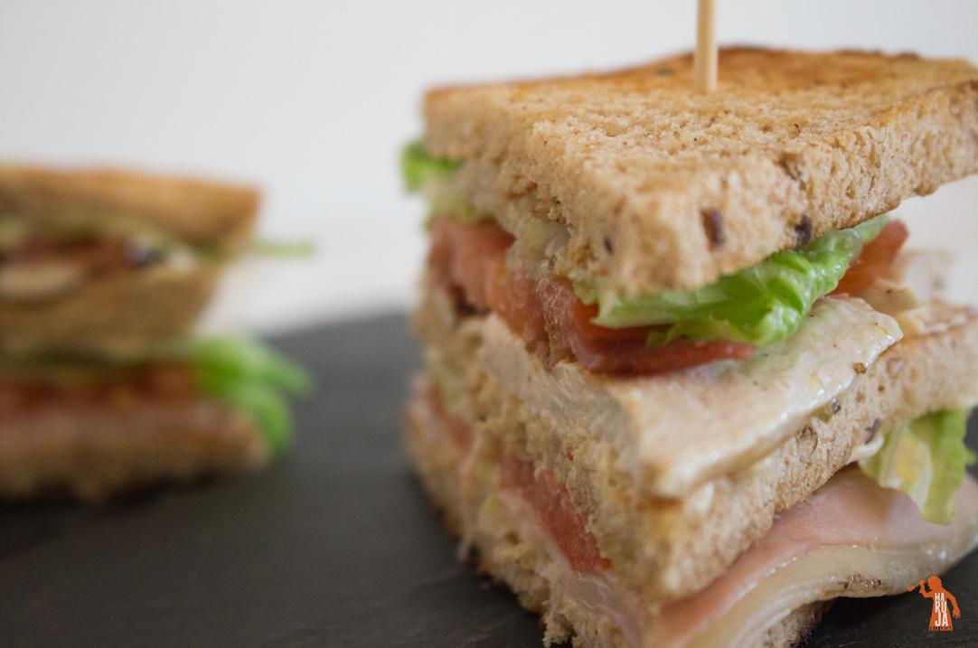 Sándwich Club o Clubhouse sandwich