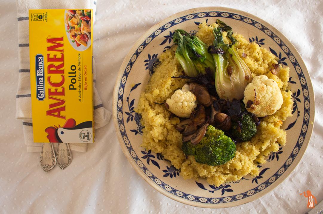 Quinoa con verduras y Avecrem Caldo de Pollo