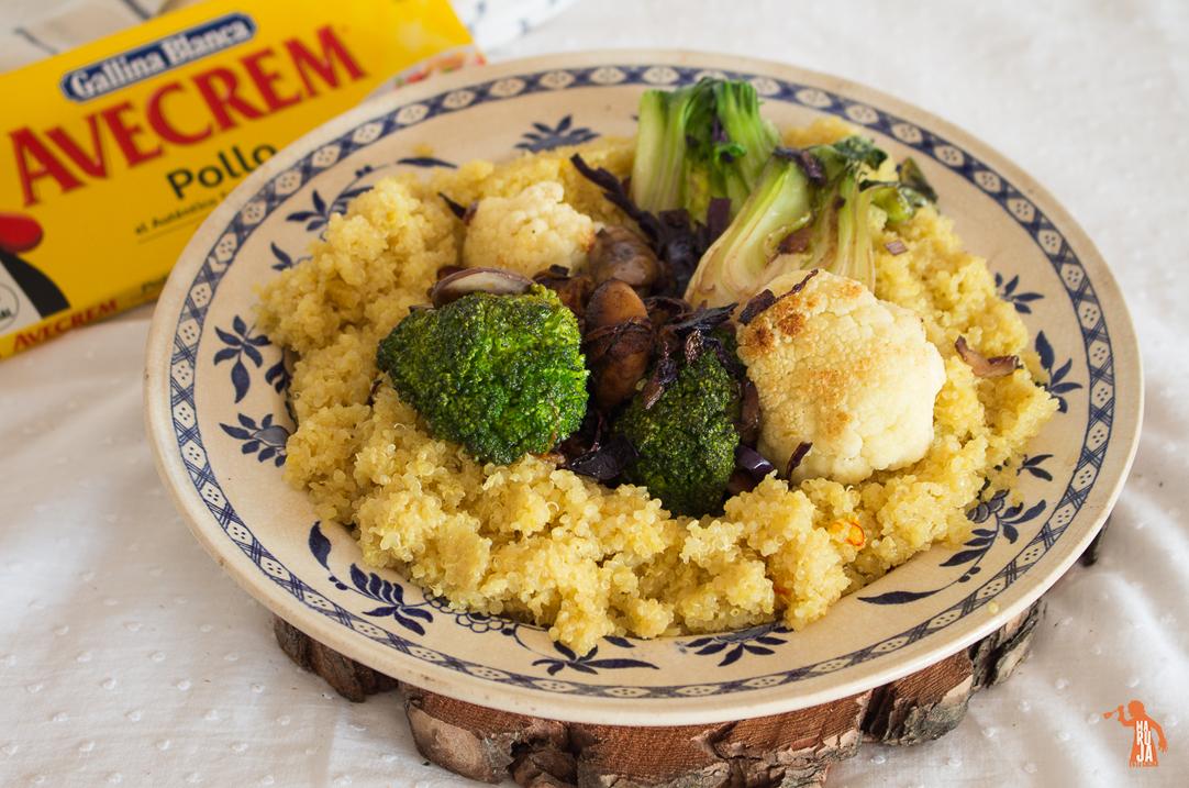 quinoa con verduras y avecrem